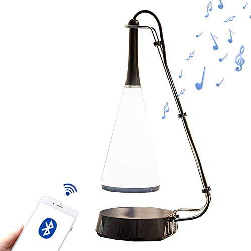 LED デスクライト bluetoothスピーカー付き おしゃれ 電気スタンド タッチセンサー無段階調光 USB充電式 ベッドサイドランプ 学習机 ライト (ブラック, S)