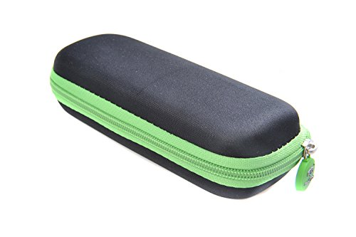 Ombrello compatto premium (dimensioni da chiuso 17 cm), struttura in alluminio (diametro 88cm) apertura e chiusura automatiche con pulsante, colore: verde-nero, 0338-02 (DE)