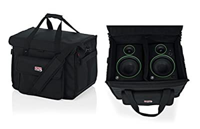 """Gator Cases Studio Monitor Tote Bag Holds (2) Powered Monitors Up to 5"""" Driver Range; Fits JBL, Mackie, KRK, & More (G-STUDIOMON1) by Gator Cases"""