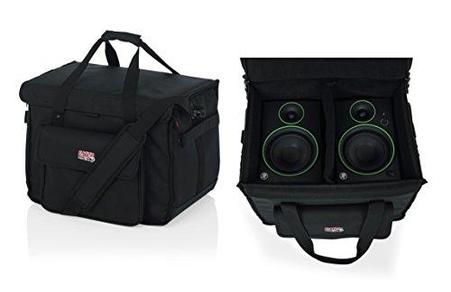 Gator Cases Studio Monitor Tote Bag Holds (2) Powered Monitors Up to 5' Driver Range; Fits JBL, Mackie, KRK, & More (G-STUDIOMON1)
