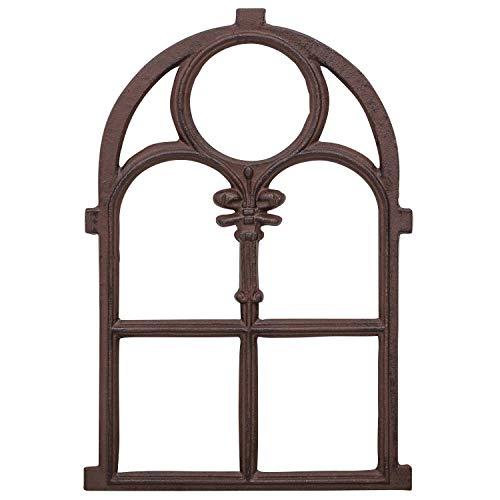 aubaho Fenster Eisenfenster Stallfenster Scheunenfenster Eisen Antik-Stil 74cm braun