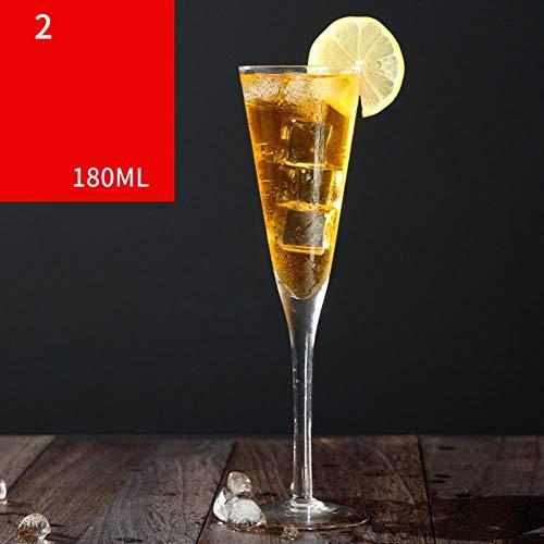 TUOP Kristal Glas Champagne Bril Bruiloft Hoge Voet Martini Bubble V Vorm Zoete Wijn Cocktail Bekers