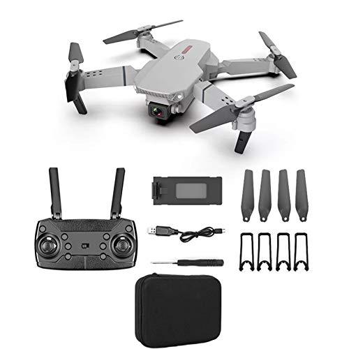 H87yC4ra E88 Drone Mini Drone Pieghevole Con Doppia Fotocamera 4K HD, 1080P WiFi FPV RC Quadcopter Altezza Droni Ad Alta Velocità Di Rotazione Con Fotocamera Per Adulti Bambini Grigio 4K