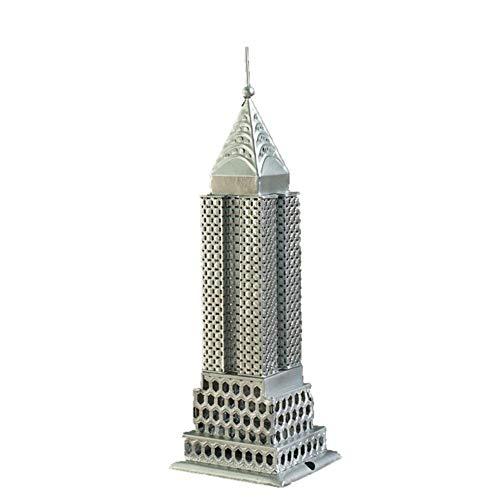 FMOGE Modelo De Escultura Arquitectónica, Modelo De Edificio Empire State, Estatua De Arquitectura De Hierro, Colección De Modelos 3D, Decoración De Recuerdo