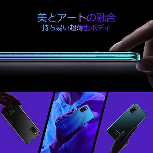 UlefoneNote9Pスマートフォン本体Android10.0SIMフリースマホ本体4GBRAM+64GBROM6.52FHDフルスクリーン16MP+8MP3眼カメラ4500mAhモバイル指紋認証&顔認証スマートフォン(グリーン)