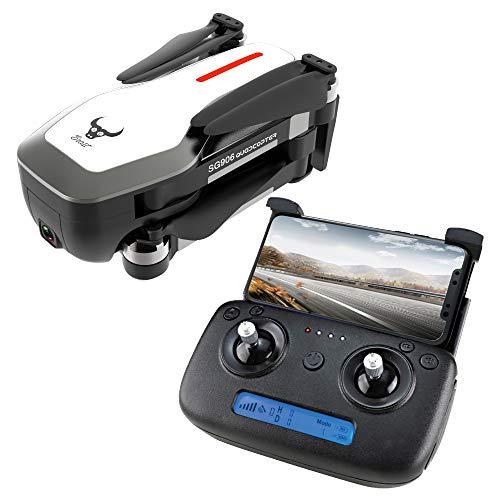 DishyKooker ZLRC Beast SG906 GPS 5G WiFi FPV mit Ultra klarer 4K-Kamera Brushless Selfie Faltbarer RC-Drohne-Quadcopter Weiß