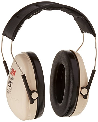 3M H6A/V Peltor H6AV Optime 95 Over the Head Noise Reduction Earmuff, Hearing Protection, Ear Protectors, NRR 21dB, Ideal for machine shops and power tools,Beige