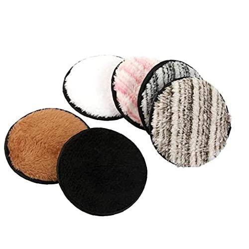 Ohomr 6PCS Maquillaje del paño del removedor de ratón, Puff Reutilizable Lavable Doble Cara de Forma instantánea con sólo toallitas de Tratamiento de Agua Limpiador Facial