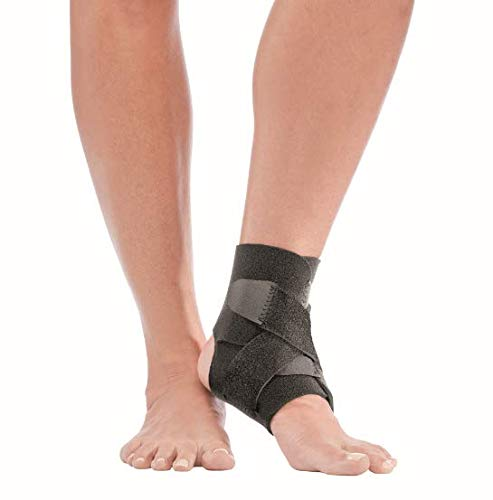 Mueller Adjustable Ankle Support, Black, One Size Fits Most (E-commerce Packaging)| Supportive Ankle Brace