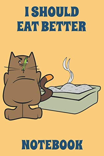 I Should Eat Better - Notebook - Orange - Blue - College...