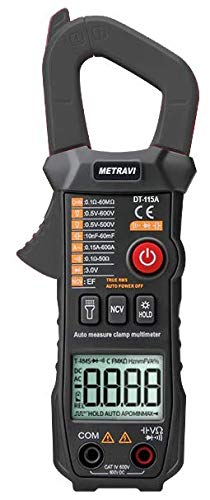 Metravi DT-115A Fully-automatic, Digital, AC Pocket Clamp Meter with T-RMS, NCV & Flashlight