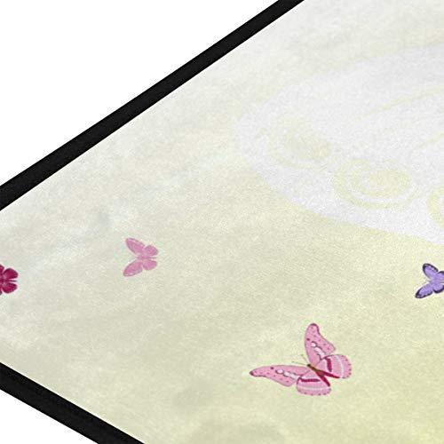 XiangHeFu gebied tapijten Meisje Bloemen Fiets Bloem Romantische Fiets Zachte 39x20 Inch Deurmatten Tapijt Gepersonaliseerde Mat voor Keuken Woonkamer Slaapkamer Decoratieve