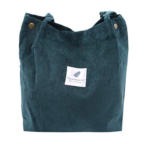 VWH Umhängetaschen Umwelt Einkaufstasche Tote Paket Crossbody Taschen Geldbörsen Casual Handtasche(Dunkelgrün)