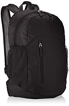 Amazon Basics Lightweight Packable Hiking Travel Day Pack Backpack - 17.5 x 17.5 x 11.5 Inches 25 Liter Black