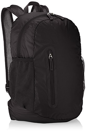 AmazonBasics Lightweight Packable Hiking Travel Day Pack Backpack - 17.5 x 17.5 x 11.5 Inches, 25 Liter, Black