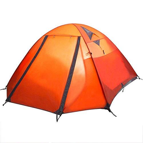 FYHH-JZHY Zelt 3 Saison Zelte 4 Etagenzelt Camping Rucksack Wasserdichtes Wandern Klettern Für Paare Oder Familien Zum Rucksackfischen (Farbe: Orange, Größe: 130X240Cm)