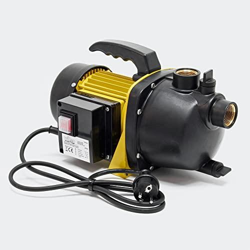 Gartenpumpe 3800l/h, 1200W mit Tragegriff & Wasserablassschraube,...