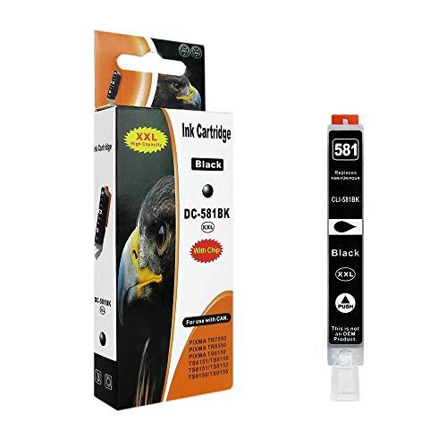 1 Druckerpatrone kompatibel zu CLI-581BK Foto Schwarz (schmale Patrone) für Canon Pixma TR7550 TR8550 TS6150 TS6151 TS8150 TS9150 TS8251 TS8151 TS9155 TS8152 TS8250