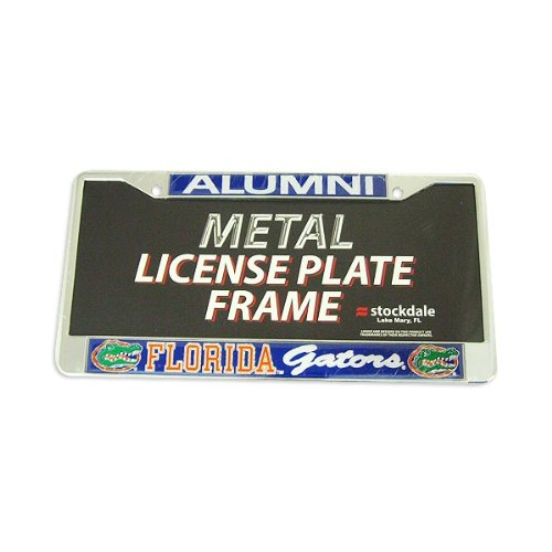 Florida Gators Alumni Metal License Plate Frame W/domed Insert - Blue Background