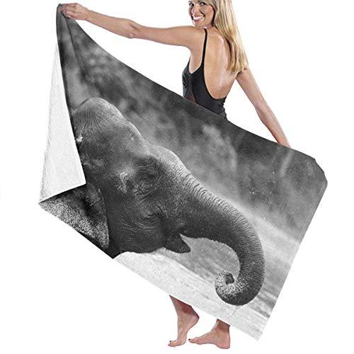 asdew987 Toallas de playa para mujeres y hombres, diseño de elefante, secado rápido, multiusos, manta de piscina, grande, 76 x 158 cm