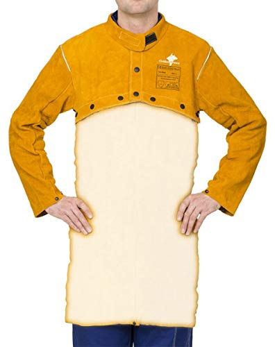 Weldas Schweißerjacke Sigma GoldenBrown Gr. XL für Schürze 44-2800XL Jacken Schweißerjacken Leder & Textil