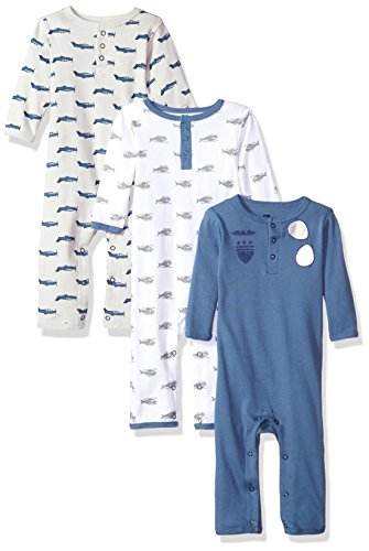 Hudson Baby Unisex Baby Cotton Coveralls, Wingman, 3-6 Months