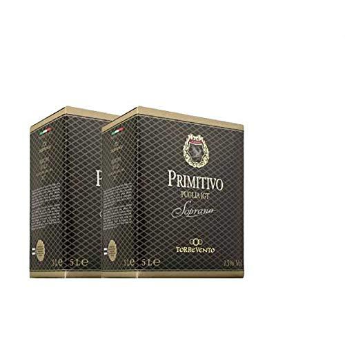 Rotwein Italien Primitivo Puglia IGT Soprano Bag in Box trocken (2x5L)