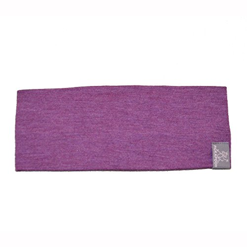 PICKAPOOH Stirnband Bio-Schurwolle/Seide für Kinder und Erwachsene, Lila Gr. 56