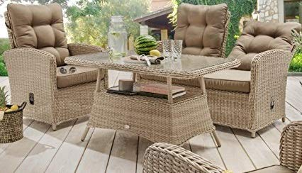 Destiny Loungegruppe Sofaset Merano Pearl Shell Vario Loungeset Lounge Möbelset