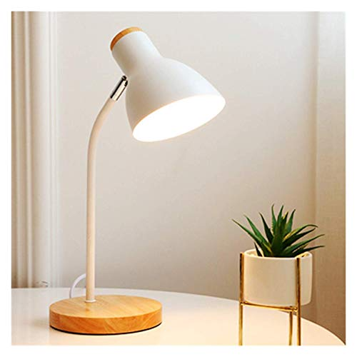 Arte de madera de múltiples ángulos, led, plegable, lámpara de mesa de estilo nórdico, protección para los ojos, lámpara de mesa de lectura, sala de estar, dormitorio, decoración del hogar (color del