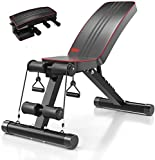 YOLEO Adjustable Weight Bench Home Training Gym Weight Lifting Sit Up Ab Bench Flat Incline Decline Multiuse Exercise Workout Bench