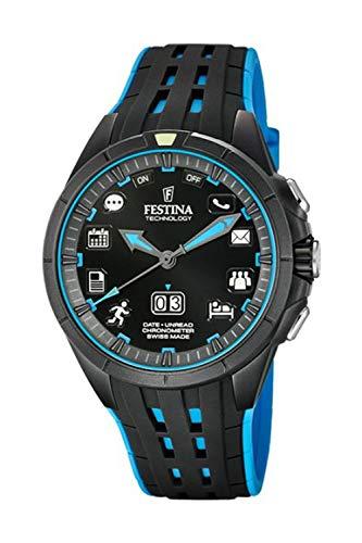 Reloj Festina Technology Conectado Negro y Azul FS3001/3