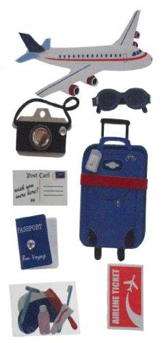 Sandylion Travel by Plane Essentials Aufkleber, groß