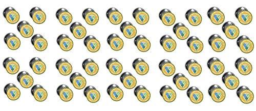 Coronavirus Vaccination Shot Button Badge–Covid-19 Vaccine Recipient Notification Public Health Pinback Button Badges –1.75 Inch Round