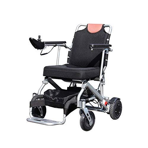 FTFTO Inicio Accesorios Silla de Ruedas Multifuncional Plegable Silla de Ruedas eléctrica Inteligente portátil Rotación del 360% Adecuado para: Ancianos/Discapacitados (150W * 2)