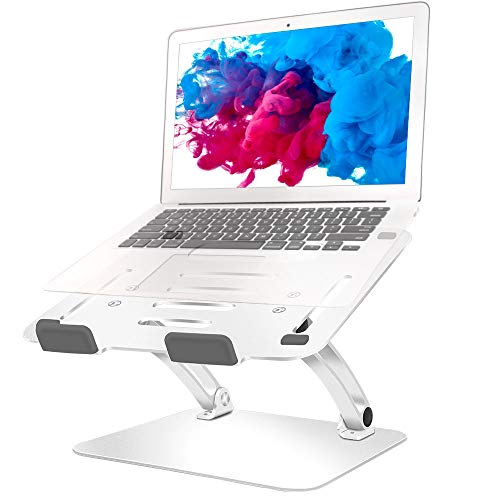 Laptop Stand Adjustable Aluminum Ergonomic Laptop Holder for 17.3 Inch Laptops Foldable Laptop Stands for Desk Stable and Durable Enhanced Heat-Dissipation
