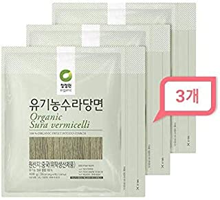 Chung Jung One Organic Sura vermicelli Sweet Potato Glass Noodle 14.10 oz(Pack of 3)