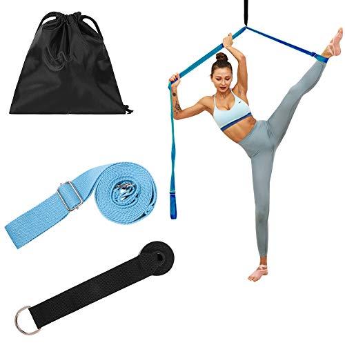 miuse Yoga-Gurt, Beinspreizer, Beinstrecker Dehnungsband für Ballett, Tanzen & Gymnastik Training(Blue)