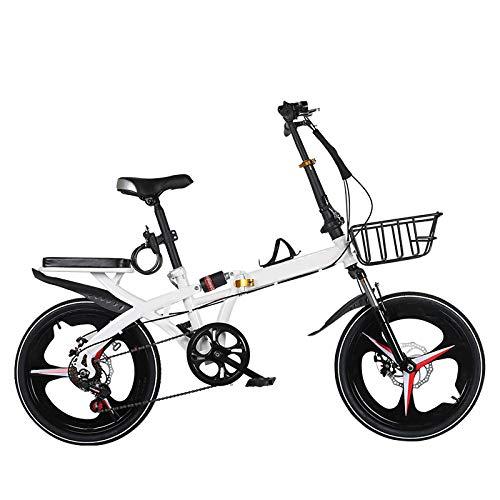ZJBKX Bicicleta plegable de 20 pulgadas para adultos, portátil, ultraligera, de velocidad variable, ultraligera, para hombre y mujer