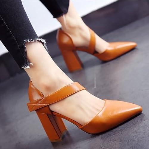 FLYRCX Printemps Printemps Printemps Printemps Eté Hautes Chaussures de Talon Fashion Ladies' Sandales Chaussures Chaussures Mode fête de la personnalité 052