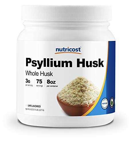 Nutricost Psyllium Whole Husk Powder (Flakes) 8oz - Gluten Free & Non-GMO