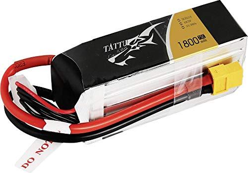 TATTU 10026 1800mAh 18.5V 75C 5S1P Lipo Akku mit XT60 Stecker für FPV Racing Quadrocopter 180-300 Größe