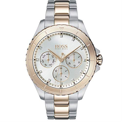 Hugo Boss Damen Multi Zifferblatt Quarz Uhr mit Edelstahl Armband 1502446