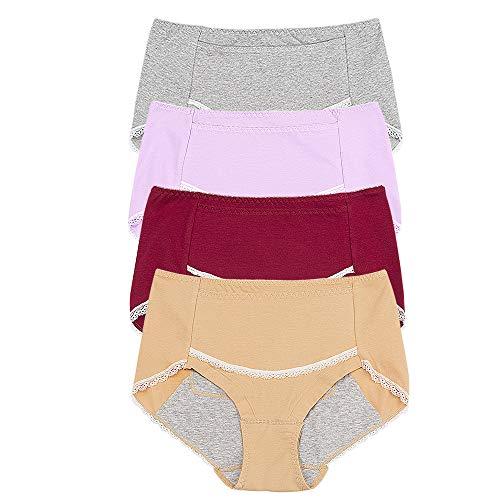 SPFASZEIV Culottes de Menstruations de la P/ériode de Coton des Femmes Post-Partum M/émoires /étanches de Saignement sous-v/êtements Post-Partum