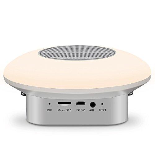 Veilleuse ZQ sans Fil Bluetooth Smart Coloré Lampe de Table Glow Accueil Bluetooth Audio Subwoofer Tactile Nuit Lumière
