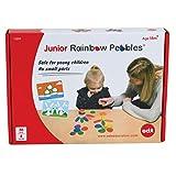 EDX Education Guijarros arcoíris Junior - Piedras para ordenar y apilar - Material táctil infantil para primeras matemáticas - Primer juguete para contar y construir - Edad 18M+