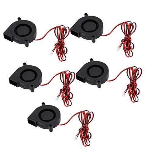 KESOTO 5PCS 5015 DC 24V Silent Brushless Blower Radial Cooling Fan Brushless 5CM Fans 50mm X 50mm X 15mm for RepRap 3D Printers Parts