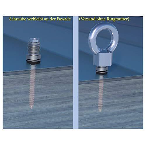 Made in Germany Ringschraube 12 x 230 mm mit Holzgewinde f/ür Ger/üstverankerung