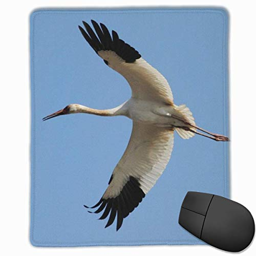 Glattes Mauspad, fliegendes rotes Kranich Mobile Gaming Mousepad Work Mouse Pad Büropad