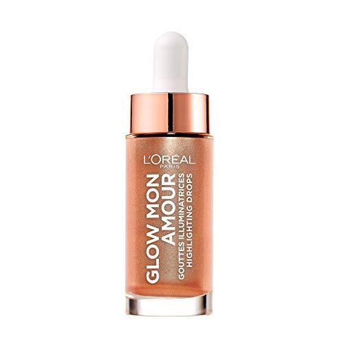 L'Oréal Paris Flüssiger Highlighter für einen frischen Teint, Glow mon Amour Highlighting Drops, 02 Loving Peach, 1 x 15 ml